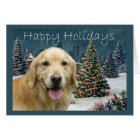 Golden Retriever  Christmas Card Evening