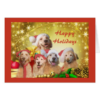 Golden Retriever Christmas Card Family