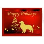 Golden Retriever  Christmas Card Stars2