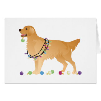 Golden Retriever Christmas Design Card