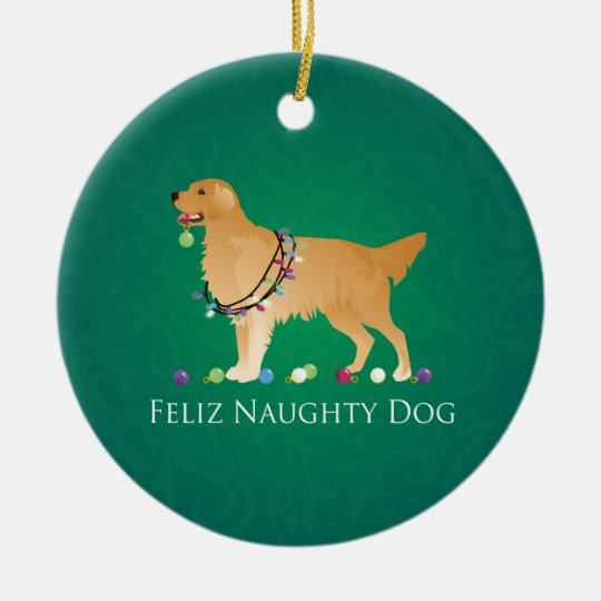 Golden Retriever Christmas Design Christmas Ornament