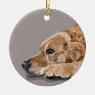 Golden Retriever Christmas Ornament