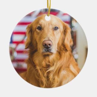 Golden Retriever Christmas Ornament Add Your Photo