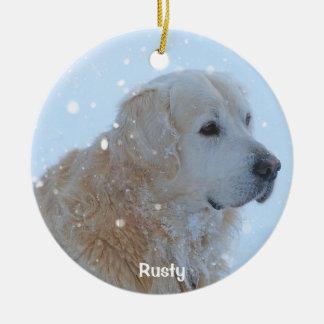 Golden Retriever Christmas Ornament Custom Photo