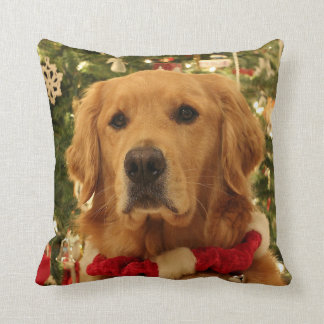 Golden Retriever Christmas Pillow