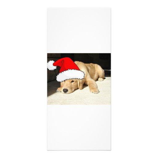 Golden Retriever Christmas Puppy Rack Card Template