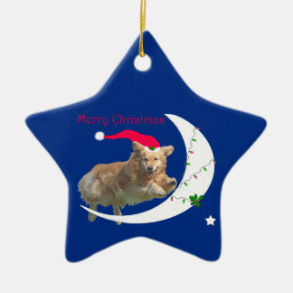 Golden Retriever Christmas Star Ornament