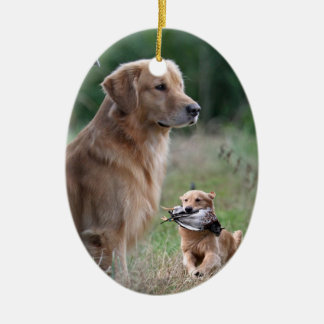 Golden Retriever collage ornament