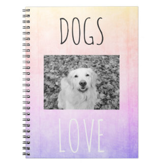 Golden Retriever colorful Notebook for dogs lovers