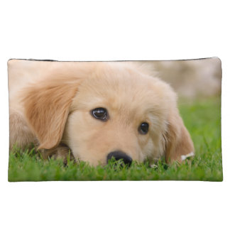 Golden Retriever Cute Puppy Dreaming, Cosmetics Makeup Bag