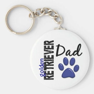 Golden Retriever Dad 2 Key Ring