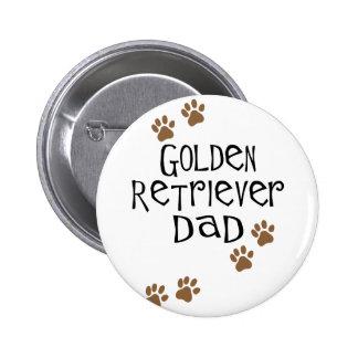 Golden Retriever Dad 6 Cm Round Badge