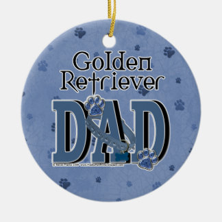 Golden Retriever DAD Christmas Ornament