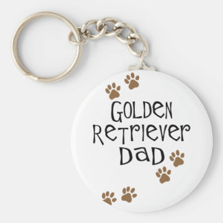 Golden Retriever Dad Key Ring