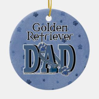Golden Retriever DAD Round Ceramic Decoration