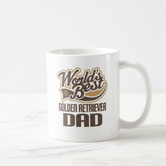Golden Retriever Dad (Worlds Best) Basic White Mug