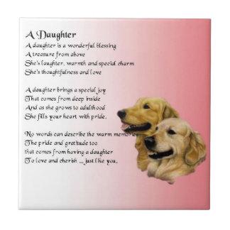 Golden Retriever - Daughter poem Tile
