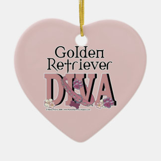 Golden Retriever DIVA Christmas Ornament