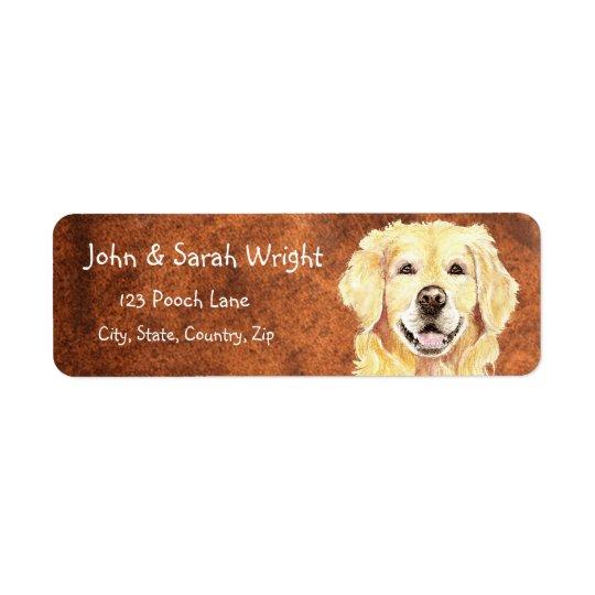 Golden Retriever Dog Address Label