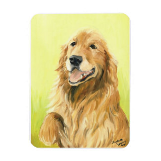 Golden Retriever Dog Art Magnet