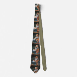 Golden Retriever Dog Art Neck Tie