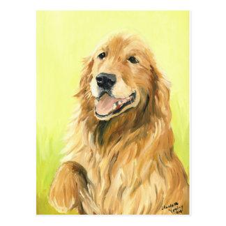 Golden Retriever Dog Art Postcard