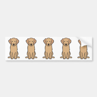Golden Retriever Dog Cartoon Bumper Sticker