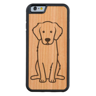 Golden Retriever Dog Cartoon Carved Cherry iPhone 6 Bumper Case
