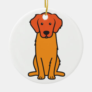 Golden Retriever Dog Cartoon Christmas Ornament