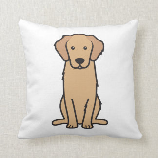 Golden Retriever Dog Cartoon Cushion