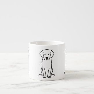 Golden Retriever Dog Cartoon Espresso Cup