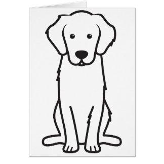 Golden Retriever Dog Cartoon Greeting Card
