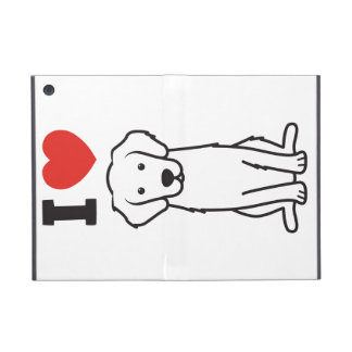 Golden Retriever Dog Cartoon iPad Mini Cover