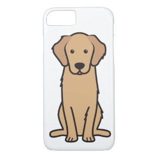 Golden Retriever Dog Cartoon iPhone 8/7 Case
