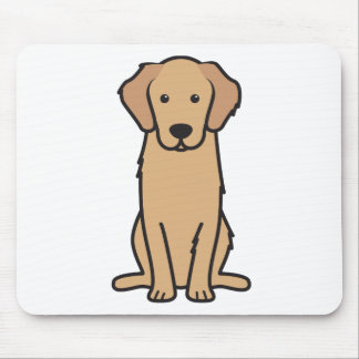 Golden Retriever Dog Cartoon Mouse Mat