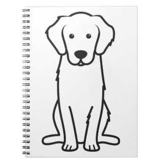 Golden Retriever Dog Cartoon Notebooks