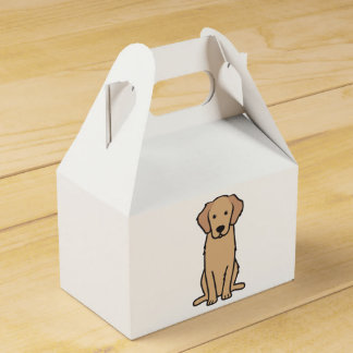 Golden Retriever Dog Cartoon Party Favour Boxes