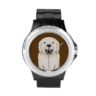 Golden Retriever Dog Cartoon Paws Wristwatches