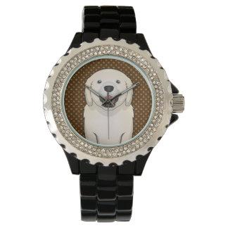 Golden Retriever Dog Cartoon Paws Watch