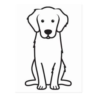 Golden Retriever Dog Cartoon Postcard