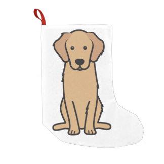 Golden Retriever Dog Cartoon Small Christmas Stocking
