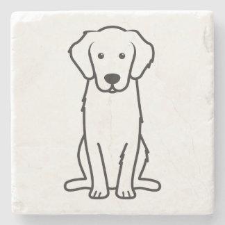 Golden Retriever Dog Cartoon Stone Coaster