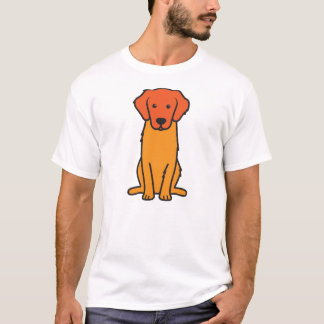 Golden Retriever Dog Cartoon T-Shirt
