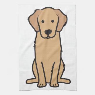 Golden Retriever Dog Cartoon Tea Towel