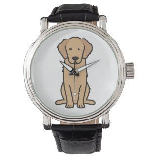 Golden Retriever Dog Cartoon Watch