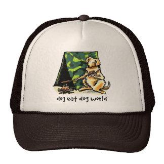 Golden Retriever Dog Eat Dog Trucker Hats