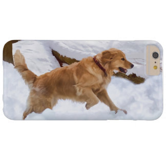 Golden Retriever Dog in the Snow Barely There iPhone 6 Plus Case