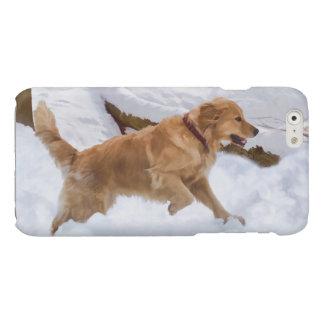 Golden Retriever Dog in the Snow iPhone 6 Plus Case