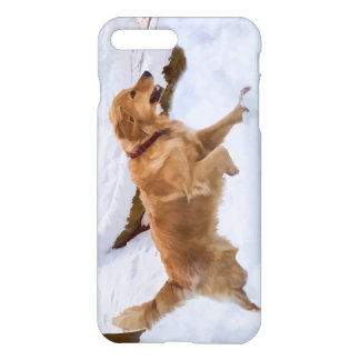 Golden Retriever Dog in the Snow iPhone 7 Plus Case