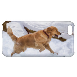 Golden Retriever Dog in the Snow iPhone 5C Covers
